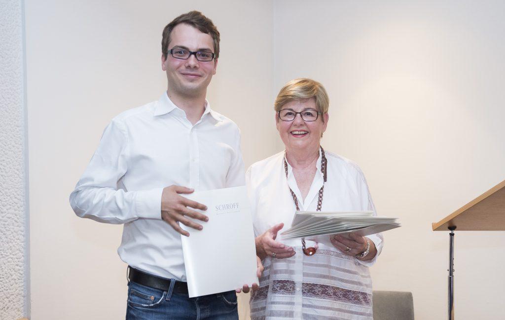 Verleihung der Schroff-Stipendien