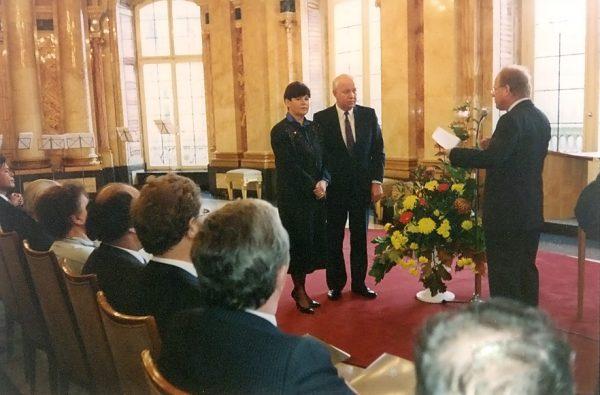 Verleihung Wirtschaftsmedaille 1987